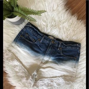 Free People Tie Dye Crochet Shorts 26